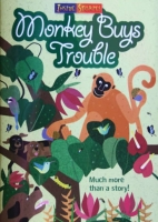 Monkey Buys Trouble children's book by Ian Trevaskis